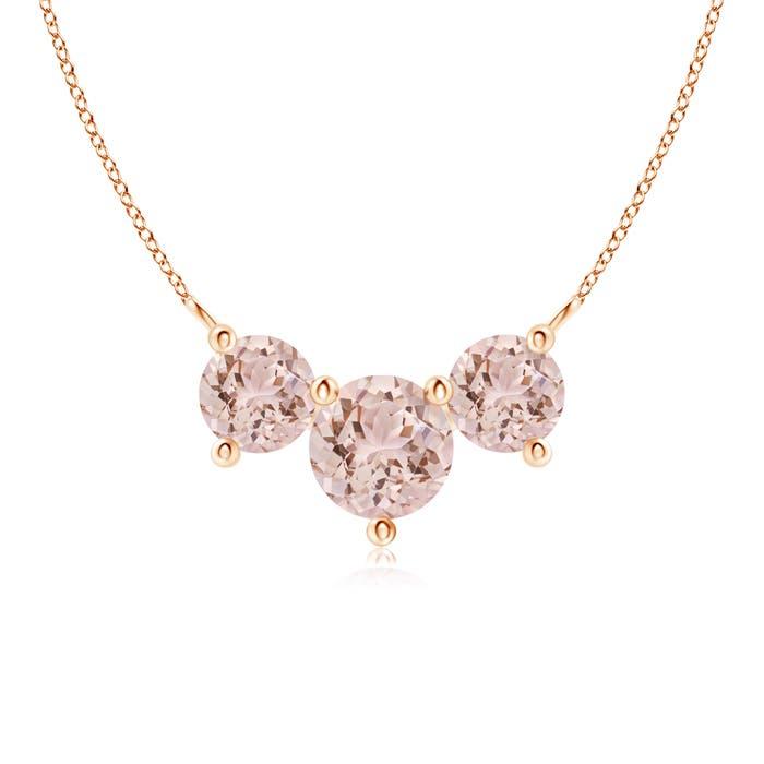 Angara Classic Morganite and Diamond Necklace sCtUt