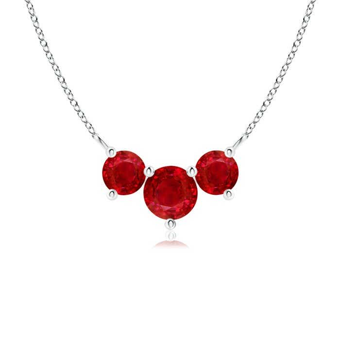 Angara Classic Ruby and Diamond Necklace DSyrYsl