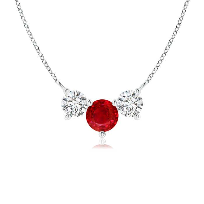 Angara Ruby Open Circle Eternity Pendant JAauG