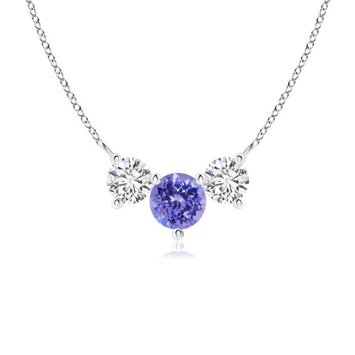 Angara Classic Trio Sapphire Necklace 9RlX9M3ebB