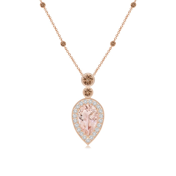 Angara Morganite Teardrop Necklace in White Gold aCHja44TJy