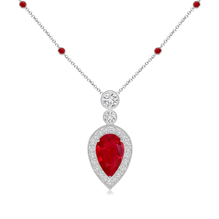 oval gold in qp ct jewellers necklace pendant ruby