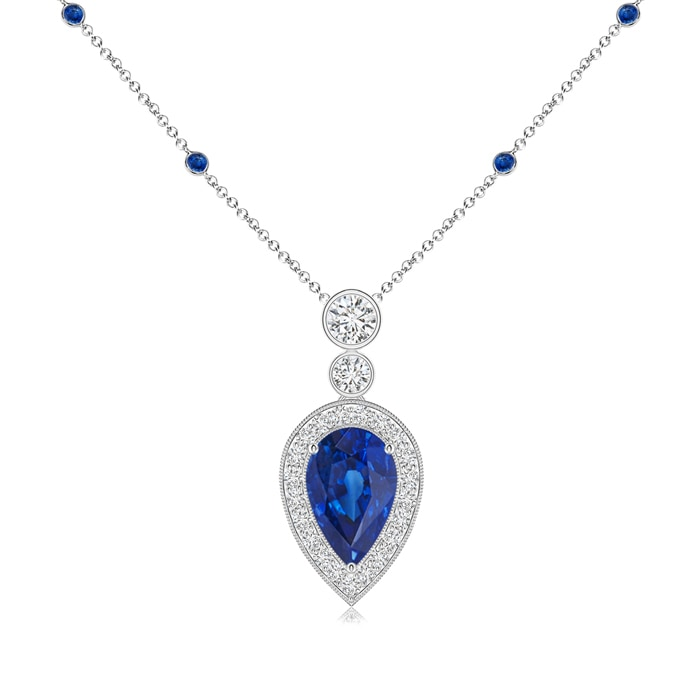 Angara Classic Sapphire and Diamond Necklace