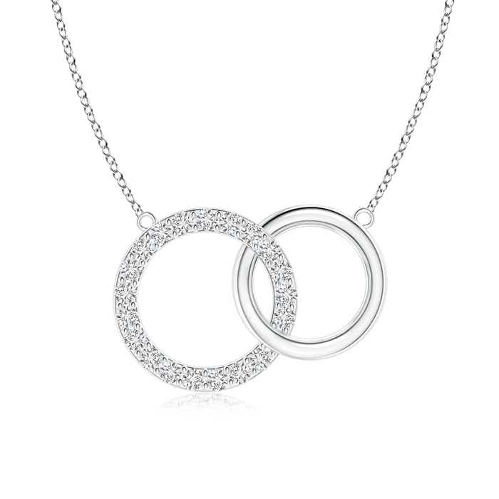 Angara Interlocking Diamond Circle Necklace AfJSQ5