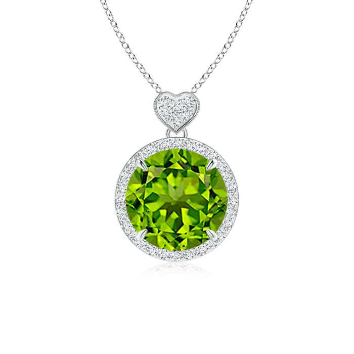 Angara Peridot White Gold Necklace