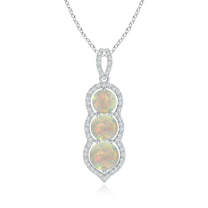 Angara Natural Opal Bezel-Set Necklace in White Gold dpphumbI