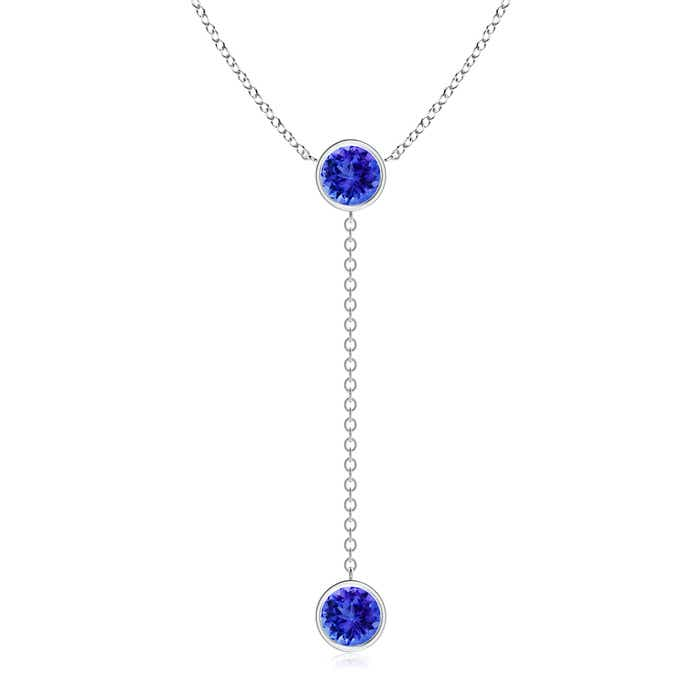 Angara Round Tanzanite Bezel-Set Pendant for Women in Platinum udkBnq5PZ
