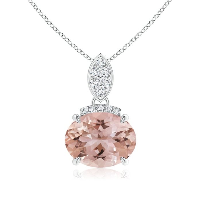 Angara East West Pink Tourmaline Solitaire Necklace