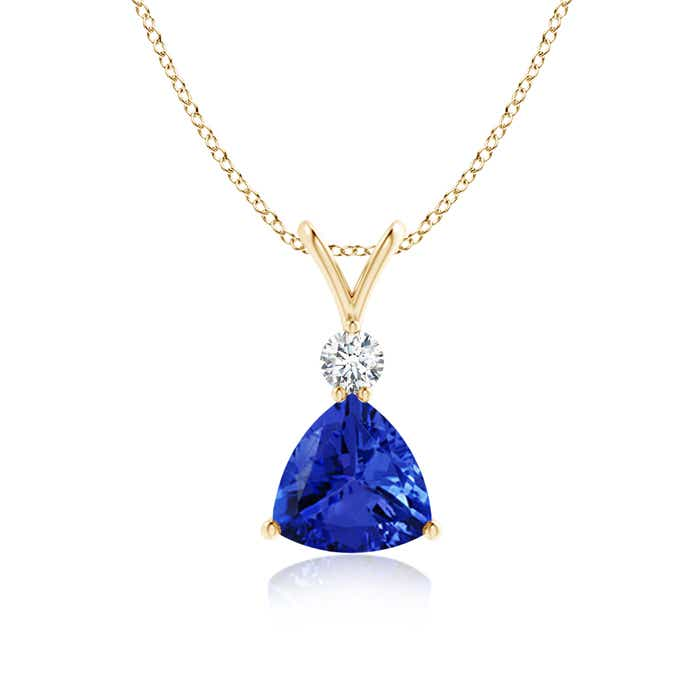Angara Trillion Tanzanite Pendant in White Gold t9NoZIXYV