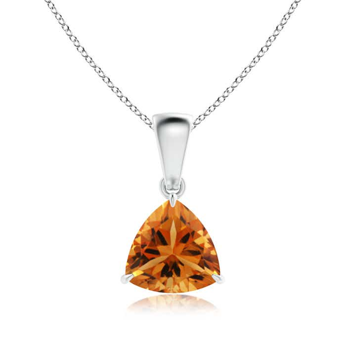 Angara Citrine Necklace in Rose Gold Pa4iMw0