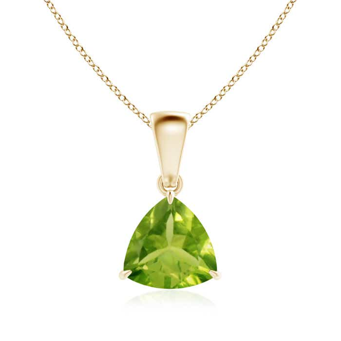 Angara Solitaire Peridot White Gold Necklace Pendant gO8ORzi8