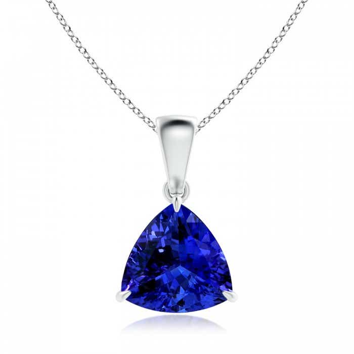 Angara Tanzanite Pendant in 18K White Gold - GIA Certified Tanzanite Pendant DboEVtmh