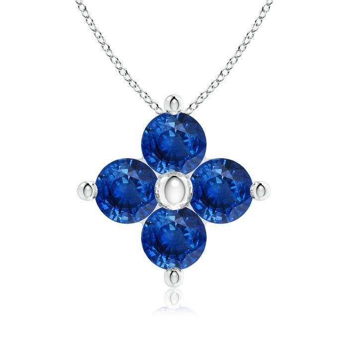 Angara Classic Round Sapphire Clover Pendant hsHTOU