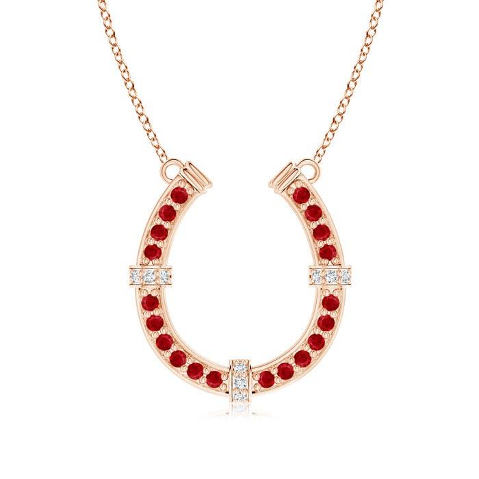 Angara Classic Diamond Horseshoe Necklace sS3JwKHJh
