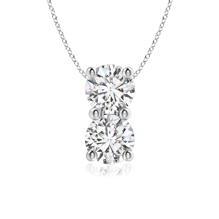 Angara Sideways Infinity Two Stone Diamond Necklace lv8S9HiyX