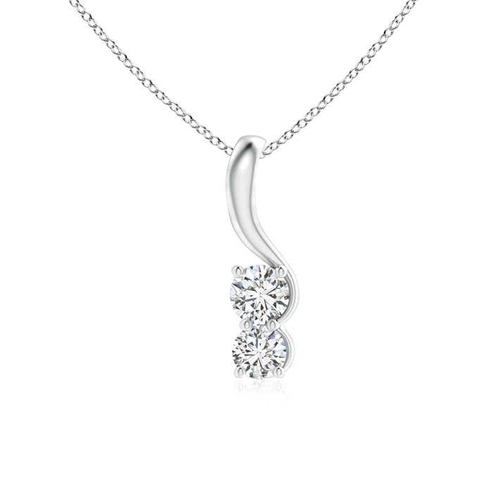 Angara Two Stone Diamond Interlocking Circle Pendant Lxqrhd00