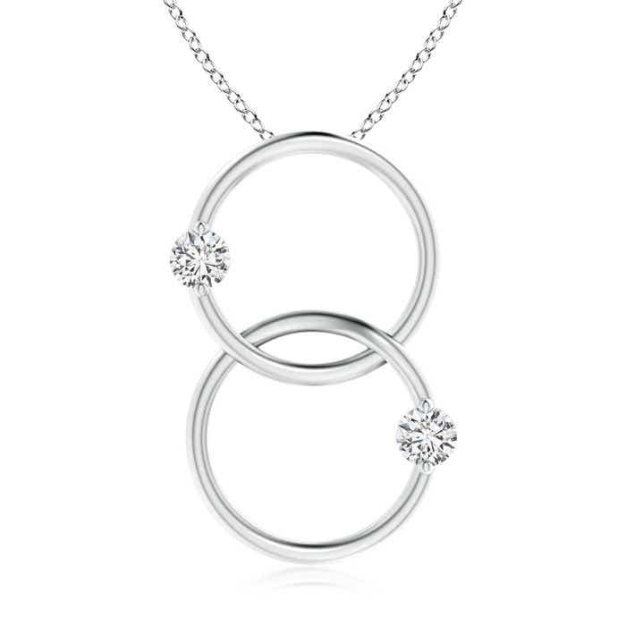 Angara Interlocking Diamond Circle Necklace 6qiyT