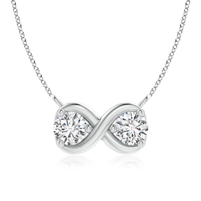 Angara Double Diamond Cherry Necklace 96Hd5A4JZT
