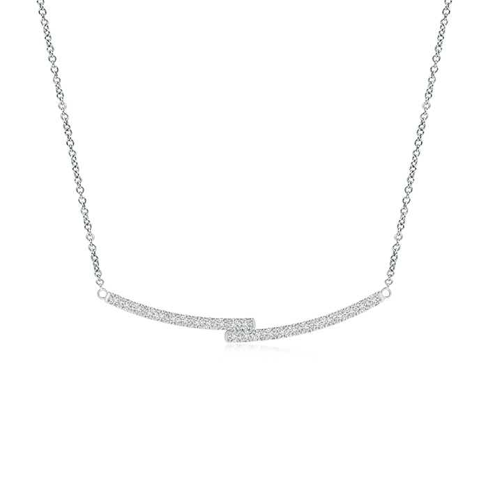 Angara Diamond Double Bar Pendant Necklace We1iWf4d2q