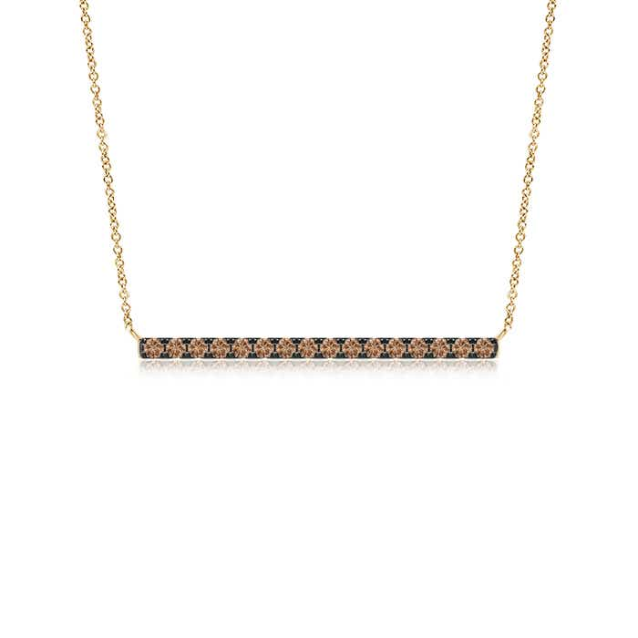 Angara Contemporary Coffee Diamond Bar Necklace WzU8r