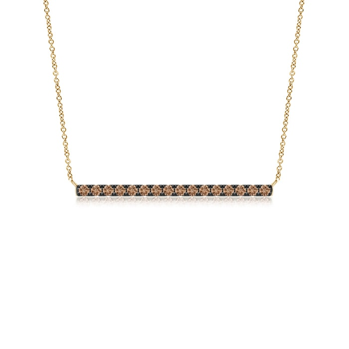 Angara Diamond Bar Necklace in Yellow Gold qJwwZ1zAA