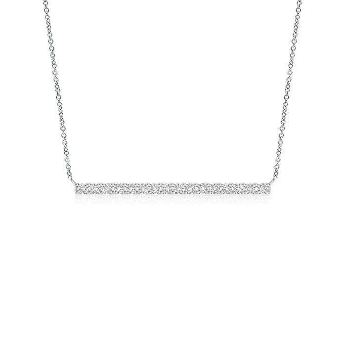 Angara Contemporary Diamond Bar Necklace t8Clqy