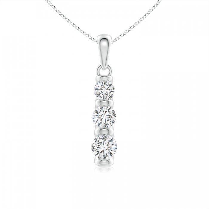 Angara Five Stone Diamond Journey Ladder Pendant ww1Ng8Hv