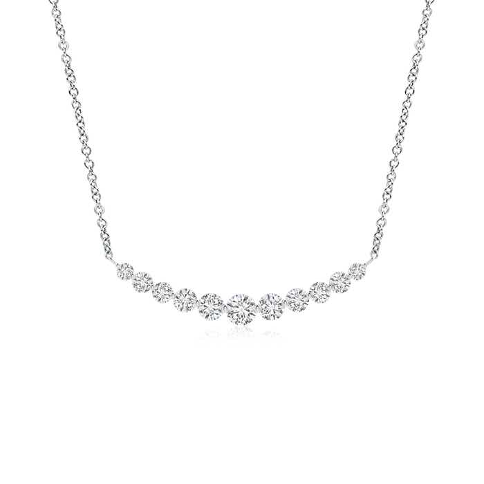 Angara Diamond Journey Necklace in Rose Gold 0Vf9JAjjg