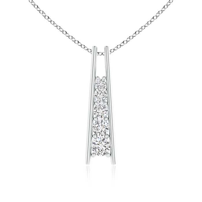 Angara Diamond Journey Necklace in Platinum 1R09J