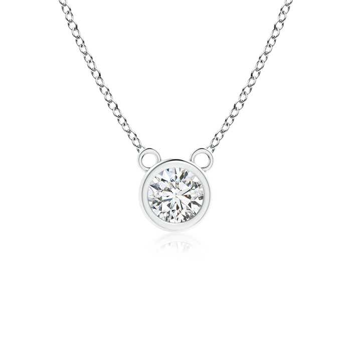 Angara Diamond Solitaire Necklace in White Gold mBYLw1W
