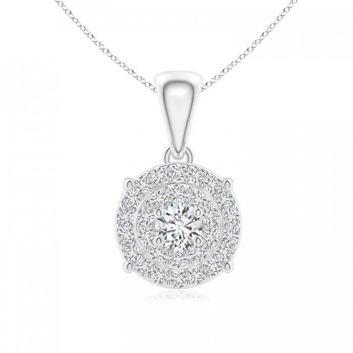 Angara Diamond Cluster Bracelet for Womens in 14k White Gold n22B05Ju