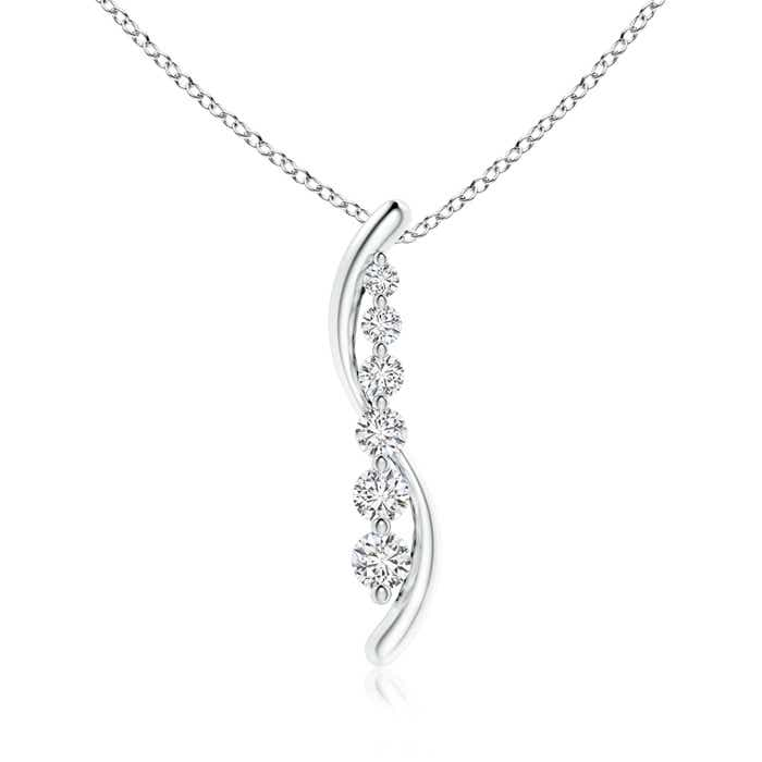 Angara Six Stone Diamond Journey Necklace