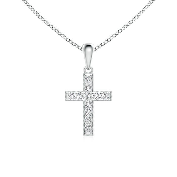Angara Pave-Set Diamond Cross Pendant wEAMDqQ