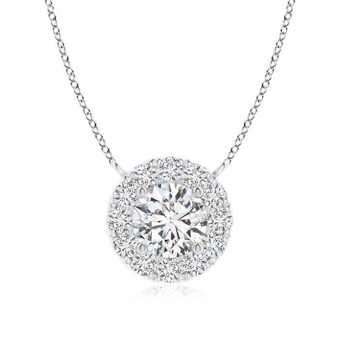 Angara Composite Round Diamond Disc Pendant Necklace bnmtnTzjP