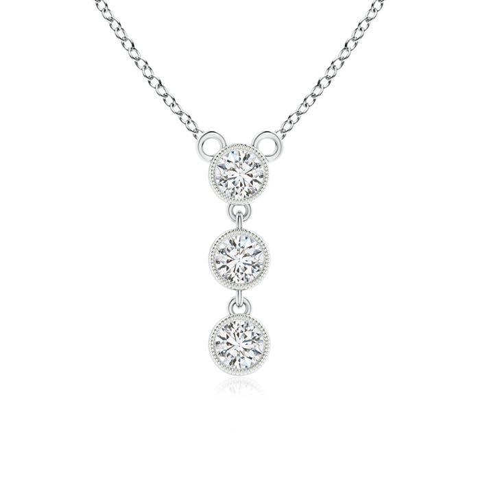 Angara Diamond Three Stone Pendant yI4dA58Ut