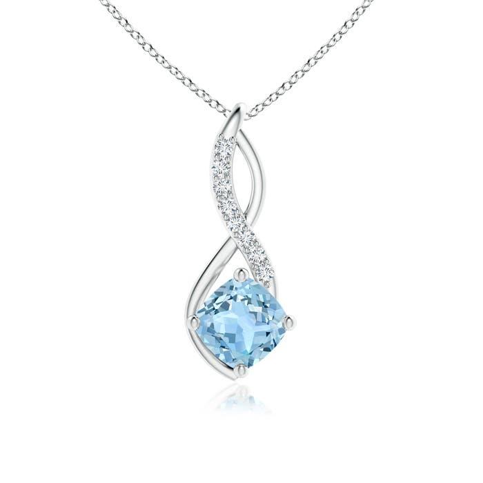 Angara Two Stone Emerald Infinity Pendant with Diamond Accents AwNqFYqc6j