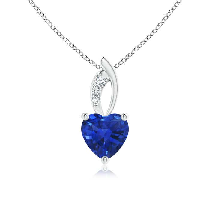 Angara Blue Sapphire Bezel-Set Pendant in 14k Rose Gold ybvNIMEwH