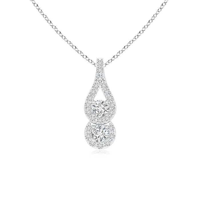 Angara Two Stone Floating Diamond Drop Pendant 7tlrChXH