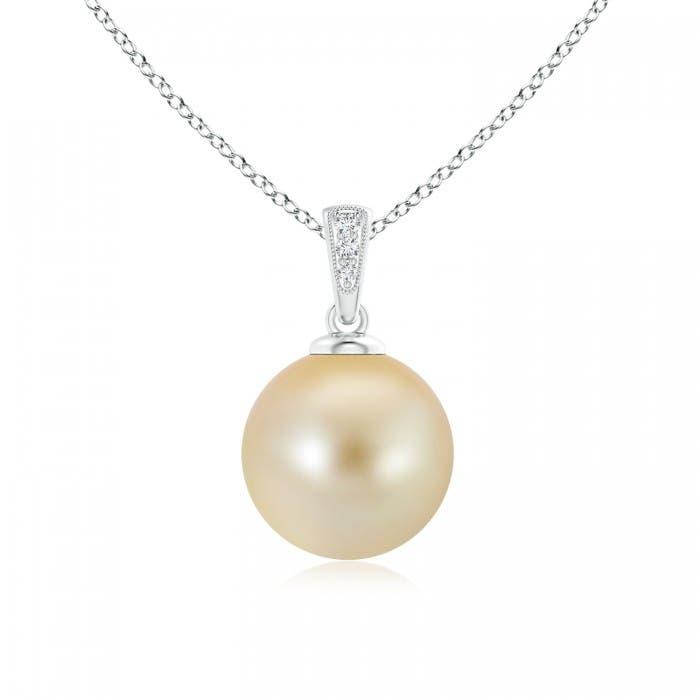 Angara Golden South Sea Cultured Pearl Infinity Swirl Pendant xT7OZQa