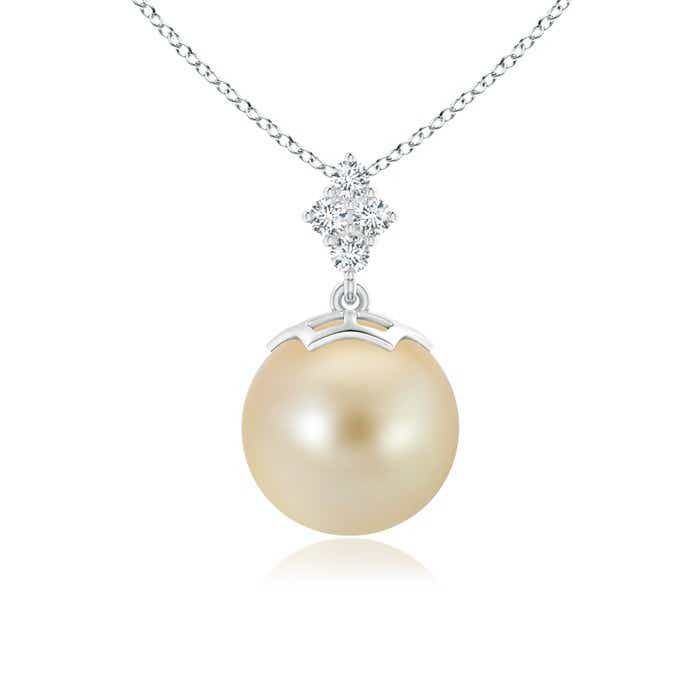 Angara Solitaire South Sea Cultured Pearl Pendant with Diamonds lTR9oqi