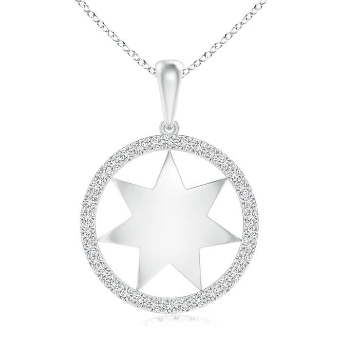 Angara Marquise and Dot Diamond Circle Pendant Tm5hWF3u8F