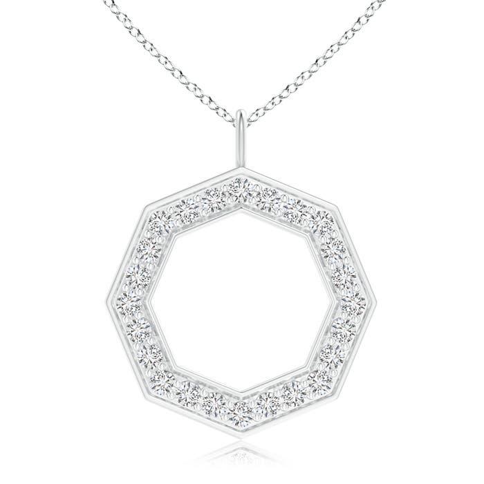 Angara Two Stone Diamond Open Circle Swirl Pendant 6I6IufEF
