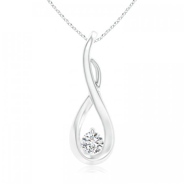 Angara Diamond Infinity Twist Pendant 5WIKc5LfY1