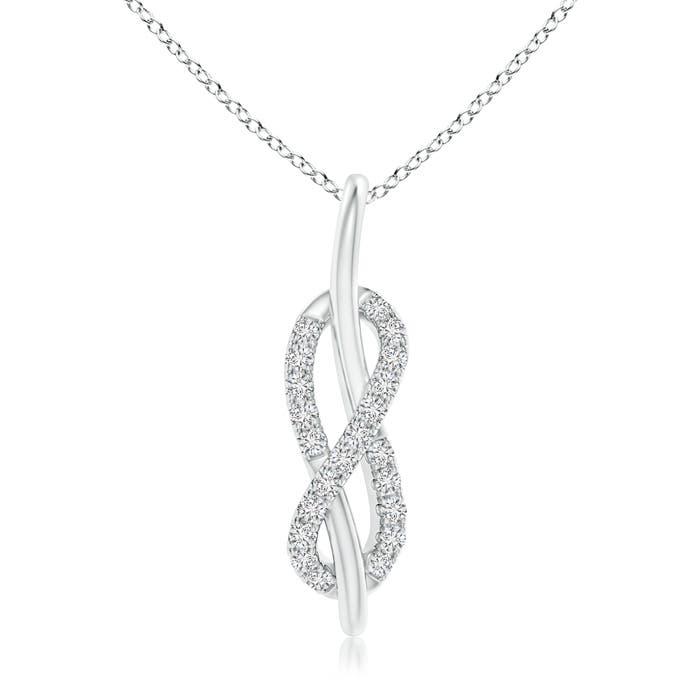 Angara Sideways Pave-Set Diamond Infinity Necklace rSv8wdfd