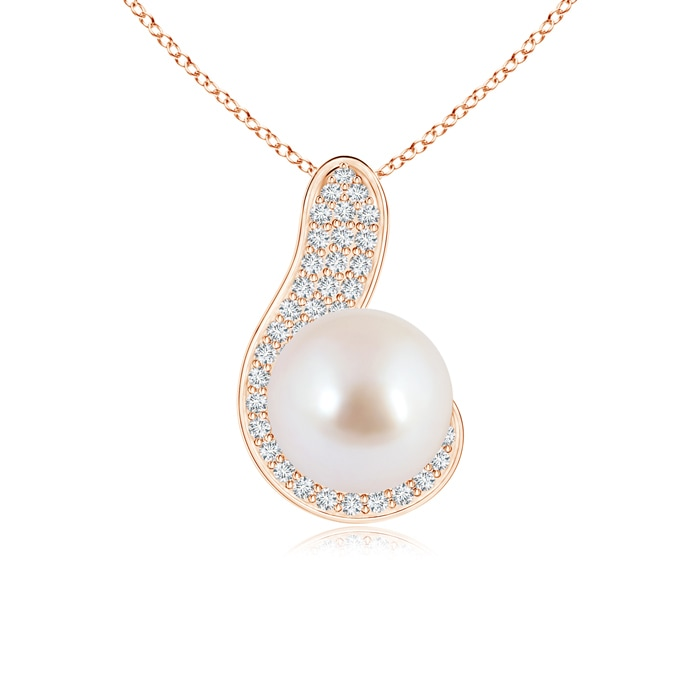 Angara Akoya Cultured Pearl Pendant with Diamond Accent VTJzb
