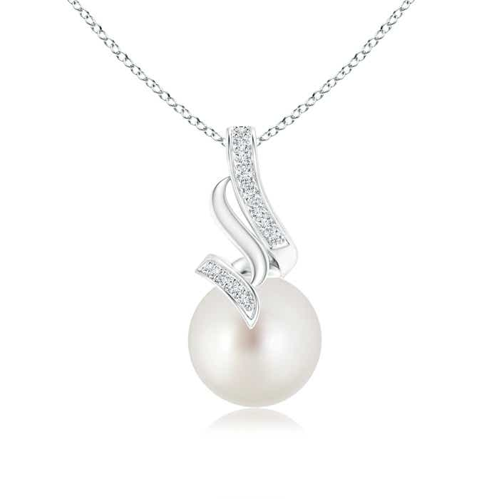Angara South Sea Cultured Pearl Drop Pendant with Diamonds yH7Njh