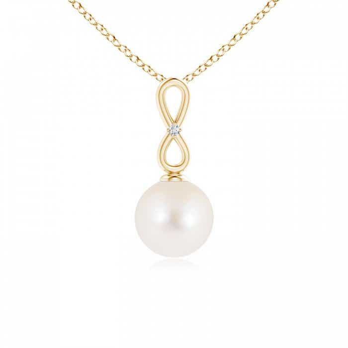Angara Vintage Inspired Freshwater Cultured Pearl Pendant wUZvZD