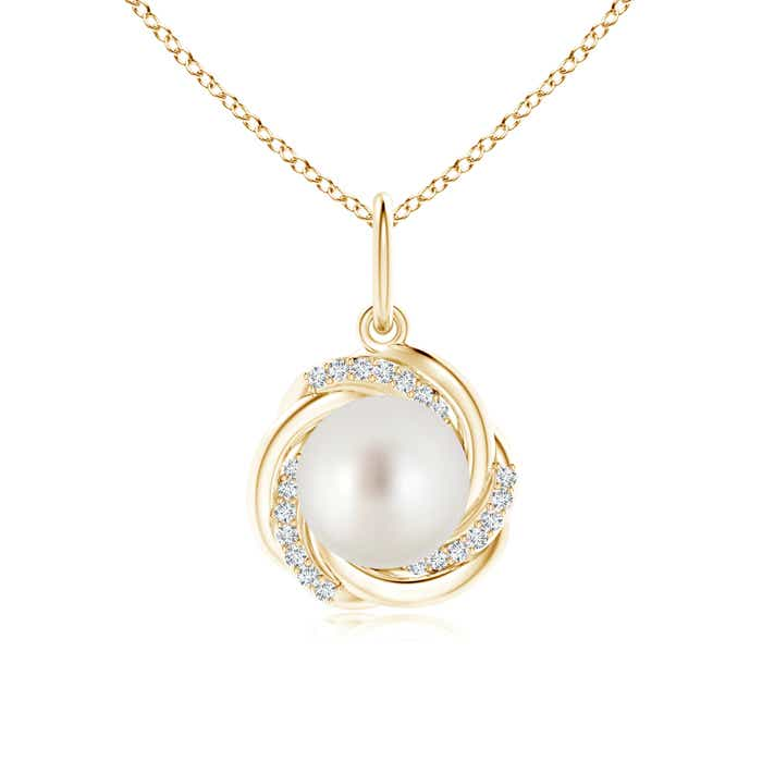 Angara South Sea Cultured Pearl Infinity Pendant with Diamond Halo PuaiCxCd
