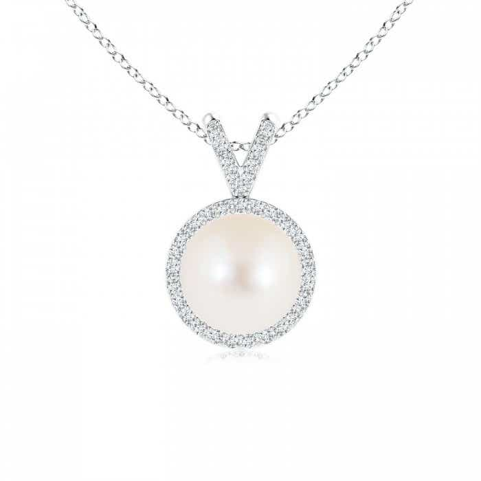 Angara Freshwater Cultured Pearl Pendant with Twisted Bale QhdoBGKb