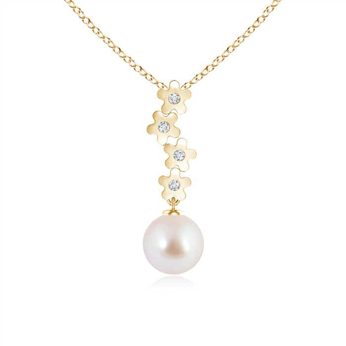 Angara Two Stone Akoya Cultured Pearl Twist Pendant UeS1aUxk0Y